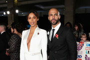 Rochelle Humes and Marvin Humes attend the Pride Of Britain Awards at Grosvenor House, on October 30, 2017 in London, England.