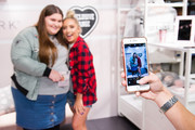 Saffron Barker (2nd L) meets fans as Primark launches exclusive Saffy B by Saffron Barker collection on October 23, 2017 in London, England.