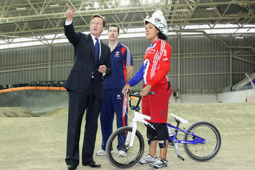 Grant White Prime Minister David Cameron Visits A Sports Centre In Manchester
