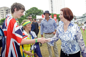 Prime Minister Julia Gillard Commonwealth Bank Series - Game 5: Australia v England