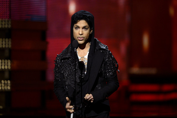 Prince Musician Prince speaks onstage at the 55th Annual GRAMMY Awards at Staples Center on February 10, 2013 in Los Angeles, California.