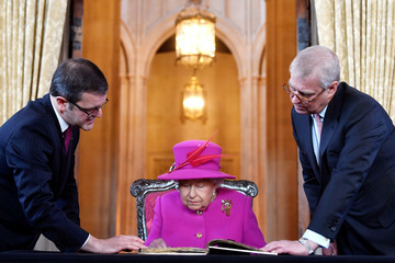 Prince Andrew The Queen And The Duke Of York Visit The Honourable Society Of Lincoln's Inn