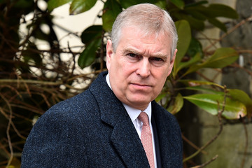 Prince Andrew Royal Family Attend Easter Sunday Service At Windsor Castle