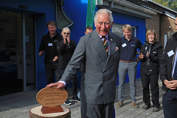 Prince Charles The Prince Of Wales Visits The Kielder Salmon Centre