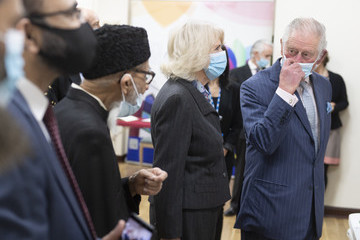 Prince Charles Camilla Parker Bowles The Prince Of Wales And Duchess Of Cornwall Visit A Vaccination Centre At Finsbury Park Mosque