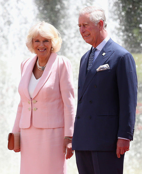 Camilla, Duchess of Cornwall and Prince Charles, Prince of Wales at the Presidential Palace for an Official Welcome on October 29, 2014 in Bogota, Colombia. The Royal Couple are on a four day visit to Colombia as part of a Royal tour to Colombia and Mexico. After fifty years of armed conflict in Colombia the theme for the visit is Peace and Reconciliation.