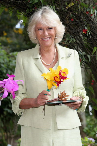 Camilla, Duchess of Cornwall visits the Quinta Bolivar Garden on October 30, 2014 in Bogota, Colombia. The Royal Couple are on a four day visit to Colombia as part of a Royal tour to Colombia and Mexico. After fifty years of armed conflict in Colombia the theme for the visit is Peace and Reconciliation.