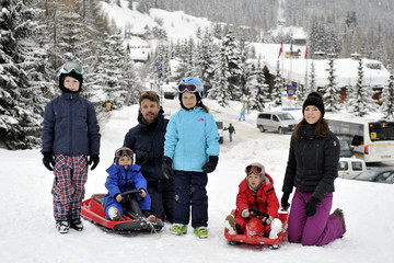 Prince Christian of Denmark Danish Royal Family Hold Skiing Photo Call