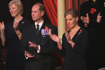 Prince Edward The Royal Family Attends the Annual Festival of Remembrance