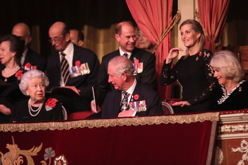 Prince Edward Prince Charles The Royal Family Attend The Festival Of Remembrance