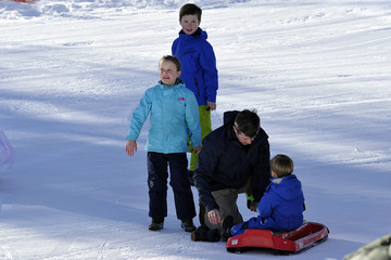 Prince Frederik Of Denmark Princess Isabella The Danish Royal Family Hold Annual Skiing Photocall In Verbier