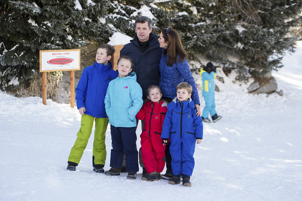The Danish Royal Family Hold Annual Skiing Photocall In Verbier
