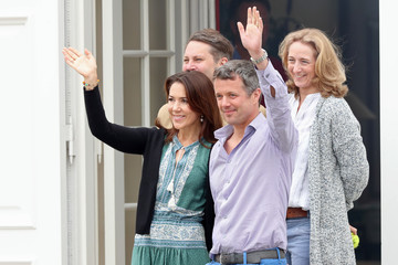 Prince Frederik Annual Summer Photocall for the Danish Royal Family at Grasten Castle