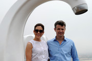 Princess Mary of Denmark and Prince Frederik of Denmark admire the view near the fibreglass artwork 'Who Left The Tap Running?' by Australian artist Simon McGrath  during a visit to Sculpture by the Sea on November 20, 2011 in Sydney, Australia. Princess Mary and Prince Frederik are on their first official visit to Australia since 2008. The Royal visit begins in Sydney, before heading to Melbourne, Canberra and Broken Hill.
