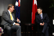 (L-R) NSW Premier Barry O'Farrell speaks with Prince Frederik of Denmark at the Hotel Sofitel Wentworth on November 21, 2011 in Sydney, Australia. Princess Mary and Prince Frederik are on their first official visit to Australia since 2008. The Royal visit begins in Sydney, before heading to Melbourne, Canberra and Broken Hill.