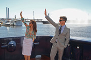 Princess Mary of Denmark and Prince Frederik of Denmark wave as they attend the naming ceremony for the tugboat 'Svitzer Marysville' on November 24, 2011 in Melbourne, Australia. Princess Mary and Prince Frederik are on their first official visit to Australia since 2008. The Royal visit begins in Sydney, before heading to Melbourne, Canberra and Broken Hill.