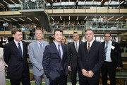 Prince Frederik of Denmark (3rd L) poses with Mark Menhinnitt (2nd R), CEO of global property and infrastructure company Lend Lease as he inspects the sustainable Commonwealth Bank building at the Darling Quarter on November 21, 2011 in Sydney, Australia. Princess Mary and Prince Frederik are on their first official visit to Australia since 2008. The Royal visit begins in Sydney, before heading to Melbourne, Canberra and Broken Hill.