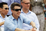 Prince Frederik of Denmark smiles during his visit to 'Sculpture by the Sea' on November 20, 2011 in Sydney, Australia.