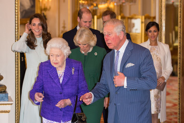 Prince Harry Camilla Parker Bowles Queen Elizabeth II Marks The Fiftieth Anniversary Of The Investiture Of The Prince Of Wales