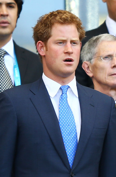 Prince Harry Prince Harry looks on during the 2014 FIFA World Cup Brazil Group D match between Costa Rica and England at Estadio Mineirao on June 24, 2014 in Belo Horizonte, Brazil.