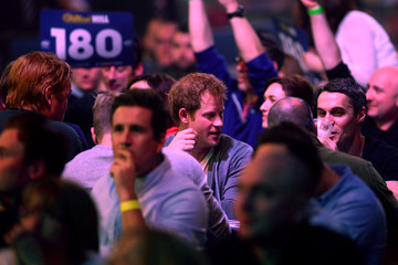 Prince Harry 2015 William Hill PDC World Darts Championships - Day Nine