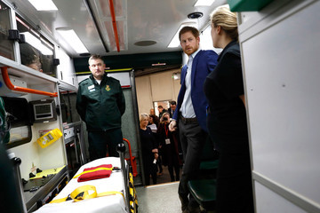 Prince Harry Prince Harry Visits the London Ambulance Service for Heads Together in Support of 'Time to Talk' Day