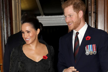 Prince Harry Meghan Markle The Queen And Members Of The Royal Family Attend The Royal British Legion Festival Of Remembrance