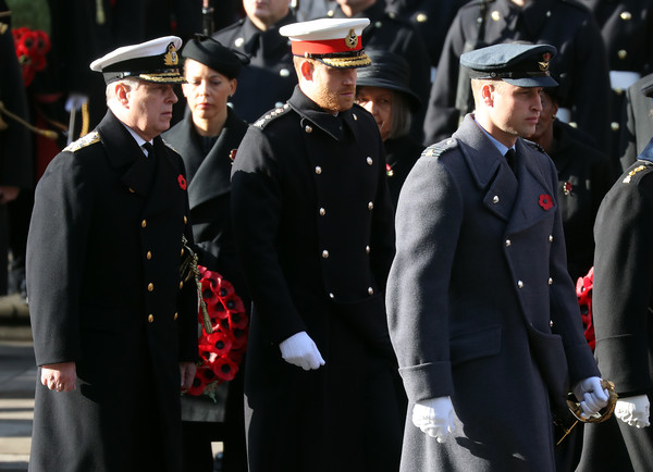 Remembrance Sunday Cenotaph Service [armistice,military officer,uniform,military uniform,official,military,military person,event,navy,law enforcement,police officer,andrew,prince william,harry,duke,york,memorial,cenotaph service,duke of sussex,the cenotaph]