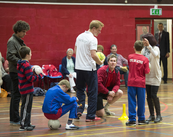 Prince Harry Prince Harry takes part in activity session at Inspire Suffolk during an official visit to Suffolk on May 29, 2014 in Ipswich, England.