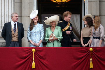 Prince Harry Princess Eugenie Trooping The Colour