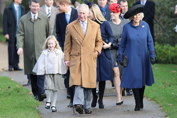 Prince Harry Princess Eugenie The Royal Family Attend Church On Christmas Day