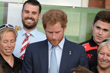 Prince Harry Prince Harry Visits Paignton Rugby Club
