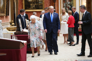 Prince Harry Queen Elizabeth II US President Trump's State Visit To UK - Day One