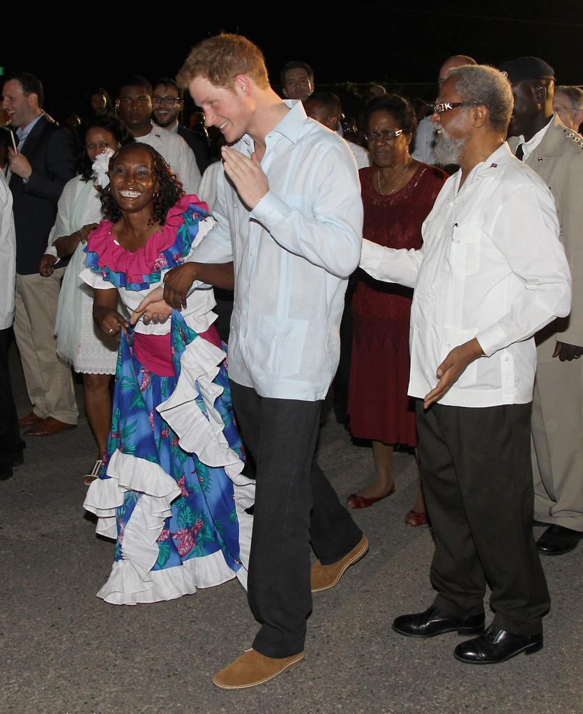 Sir Coleville Young In Prince Harry Tours Belize To Mark