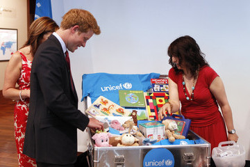 Caroline Graham Prince Harry Visits UNICEF