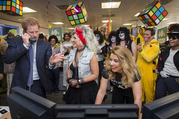 Prince Harry Prince Harry ICAP Charity Trading Day In Aid Of Sentebale