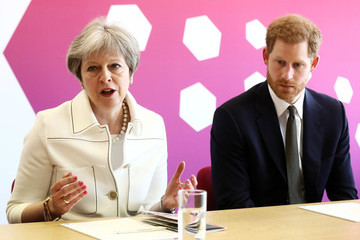 Prince Harry Theresa May And Prince Harry Attend CHOGM Youth Forum In London