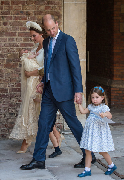 Christening Of Prince Louis Of Cambridge At St James's Palace [photograph,suit,fashion,male,dress,standing,event,formal wear,ceremony,fun,louis,prince william,catherine middleton,harry,children,duchess,cambridge,st jamess palace,chapel royal,london,catherine duchess of cambridge,prince william duke of cambridge,st jamess palace,wedding of prince william and catherine middleton,meghan duchess of sussex,chapel royal,wedding of prince harry and meghan markle]