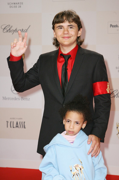 Prince Michael Jackson Prince Michael Jackson and a child attend Tribute to Bambi 2011 at the Station on September 23, 2011 in Berlin, Germany.