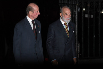 Prince Michael Of Kent The Queen Attends A Service At Westminster Abbey Marking The Centenary Of WW1 Armistice