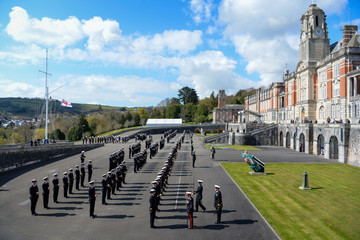 Prince Philip UK Prime Minister Visits Britannia Royal Naval College To Commemorate The Duke of Edinburgh