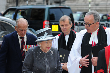 Prince Philip The Queen And Duke Of Edinburgh Attend Service On the Eve Of The Centenary Of The Battle Of The Somme