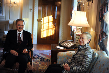 Prince Saud al-Faisal Secretary Of State Hillary Clinton Meets With Saudi Foreign Minister