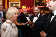 Camilla, Duchess of Cornwall speaks with guests as she and Prince Charles, Prince of Wales host a reception for the Elephant Family Animal Ball at Clarence House on June 13, 2019 in London, England. Elephant Family is an international NGO dedicated to protecting the Asian elephant from extinction in the wild.