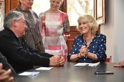 Camilla, Duchess of Cornwall visits the Progetto Arcobaleno Association on April 2, 2017 in Florence, Italy.
