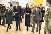 Camilla, Duchess of Cornwall, Prince William, Duke of Cambridge, Catherine, Duchess of Cambridge and Prince Charles, Prince of Wales during a joint visit to the defence medical rehabilitation centre (DMRC) Stanford Hall on February 11, 2020 in Loughborough, United Kingdom. Known as 'DMRC Stanford Hall', the centre is operated by the MOD and began admitting patients in October 2018. They deliver in-patient and residential rehabilitation to serving members of the Armed Forces.