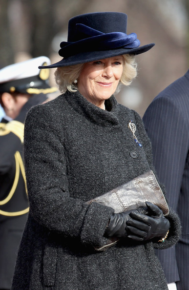 Camilla, Duchess of Cornwall attends a wreath laying ceremony at the National Monument at Akershus Fortress on March 20, 2012 in Oslo, Norway.  Prince Charles, Prince of Wales and Camilla, Duchess of Cornwall are on a Diamond Jubilee tour of Scandinavia that takes in Norway, Sweden and Denmark.