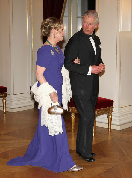Queen Sonja of Norway and Prince Charles, Prince of Wales attend an official dinner at the Norwegian Royal Palace on March 20, 2012 in Oslo, Norway.  Prince Charles, Prince of Wales and Camilla, Duchess of Cornwall are on a Diamond Jubilee tour of Scandinavia that takes in Norway, Sweden and Denmark.