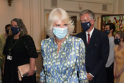 Camilla, Duchess of Cornwall arrives for a performance by The Royal Ballet at The Royal Opera House on June 10, 2021 in London, England.