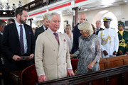 The Prince Of Wales And Duchess Of Cornwall Attend A Church Service At St. Michael's Cathedral